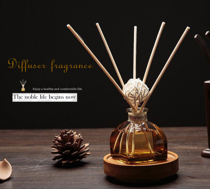 Decorative Home Reed Diffuser Natural Essential Oil Aroma Glass Bottle Reed Diffuser