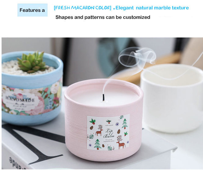Luxury Wedding Decoration Home Scented Candles Ceramic Jar Candle Holder