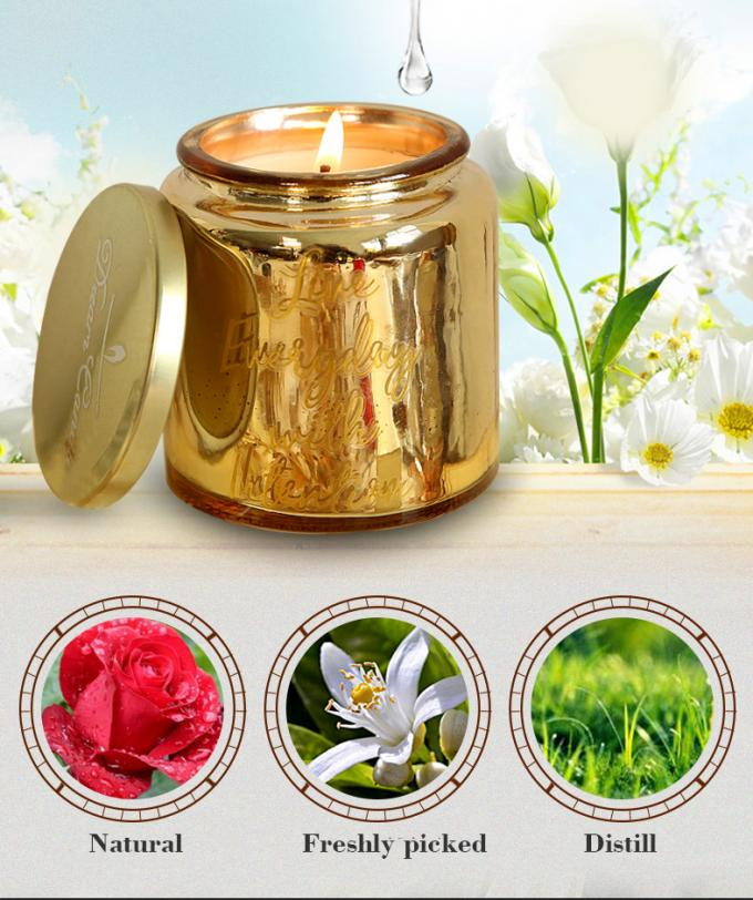 Luxury Wedding Scented Candle Glass Candle With Metal Lid