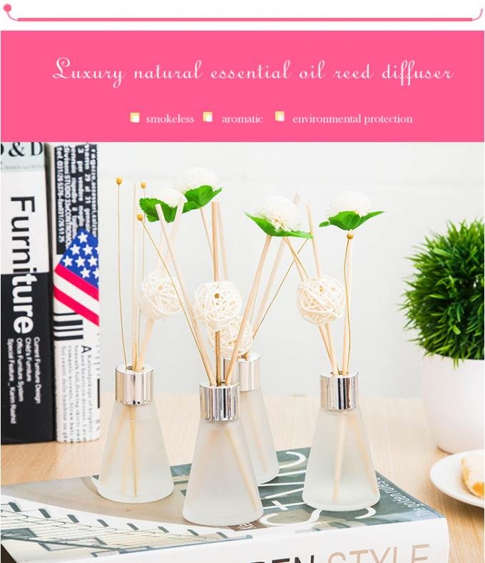 Customized Luxury Box Home Reed Diffuser Glass Bottle Dried Flower Design