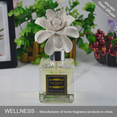 China Exquisite Air Freshener Diffuser / Ceramic Flower Fragrance Diffuser ITS Approved factory