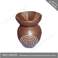 China Different Classic Shaped Ceramic Aroma Oil Burner With Spiral Pattern factory