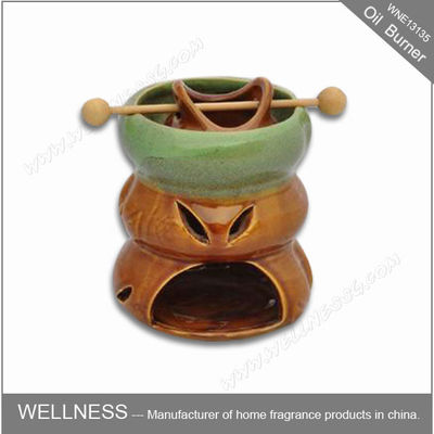 China Ceramic Colorful Scented Oil Burner With Common Packaging / High End Gift Box factory