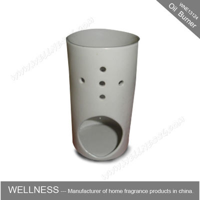 China White Scented Oil Burner Personalised Shaped For Beauty Care , Soothing Nerves factory