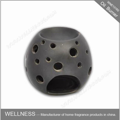 China Beautiful Design Ceramic Fragrance Oil Burner Egg Shaped , Pattern Exposure factory