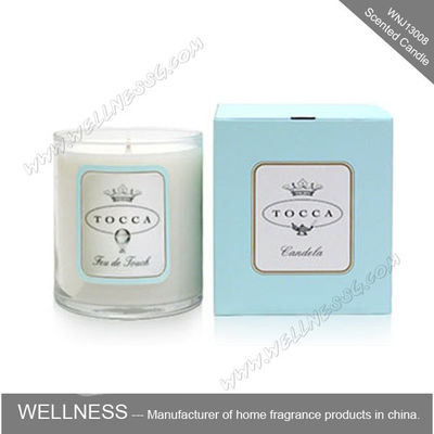 China Personalised Sticker Home Scented Candles , Natural Soy Candles For Living Room factory