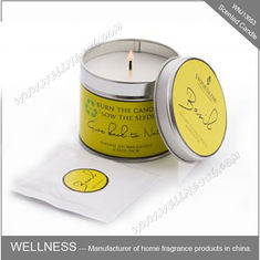 China Essential Oil Colorful Scented Tin Candles Handmade With Customized Fragrance factory