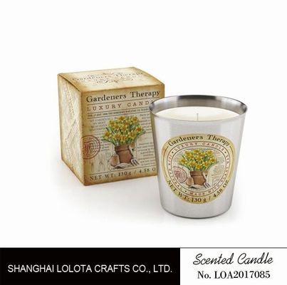 Beautiful Smelling Home Scents Candles , Aromatherapy Soy Candles Amber Fragrance