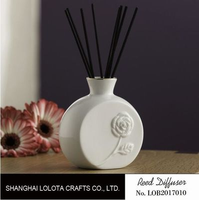 China Flower Pattern Ceramic Scent Diffuser For Beauty Care , Soothing Nerves factory