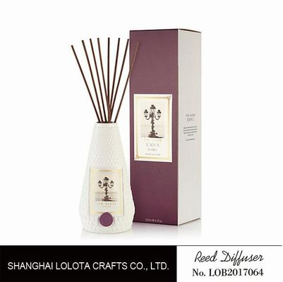 China Portable Home Ceramic Scent Diffuser , Long Lasting Ceramic Reed Diffuser factory