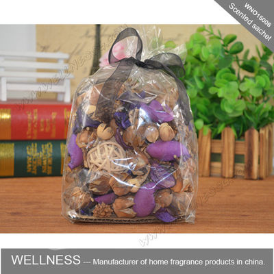 China Car Perfume Bag Scented Potpourri Bag With Black Ribbon , Personalised Size factory