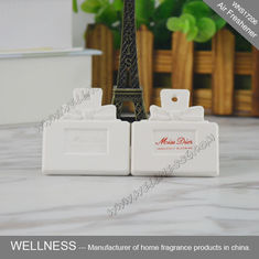 China Square Shaped Ceramic Scent Stone Aromatherapy Piece With Essential Oil factory