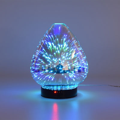 China 3D Color Glass Electronic Aroma Diffuser Essential Oil Aromatherapy Humidifier Aromatherapy Sprayer factory