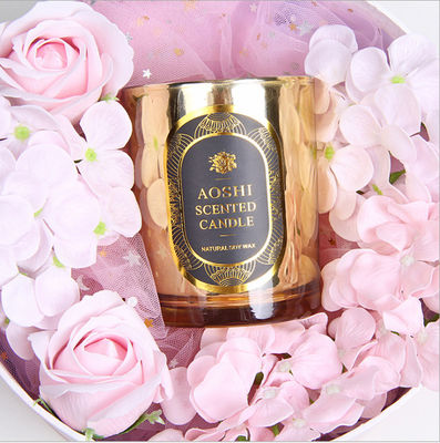 Gold Glass Jar Room Scented Candles Electroplated Luxury Scented Candle