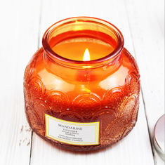 Carving Decorative Pattern Home Scented Candles Customized Fragrance