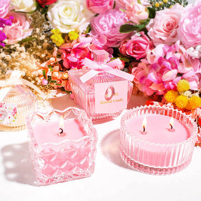 China Lightweight Perfume Scented Candles Soy Wax Material Elegant Looking factory