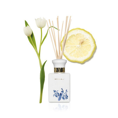 Luxury Natural Essential Oils Home Reed Diffuser Ceramic Pattern Bottle
