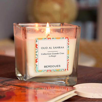 China Glass Jar Scented Soy Wax Candle / Non Toxic Scented Candles With Luxury Packing factory