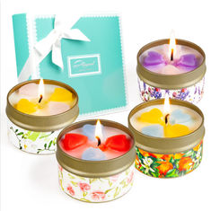 China Customized Logo Home Scented Candles Home Fragrance Candles Luxury Four Piece Gift Set factory