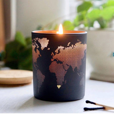 China Fashion Creative Design Soy Scented Jar Candle With Metal Lid Home Decoration factory