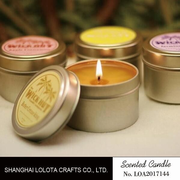 Exquisite Small Scented Candles Christmas Tin Candles For Soothing Nerves supplier