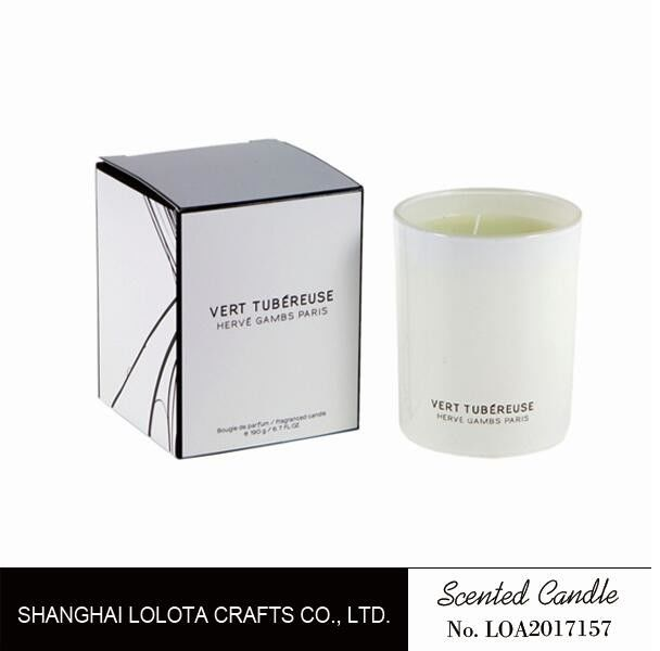 Living Room Natural Soy Candles , Decorative Scented Candles In The Light White Color Bottle supplier