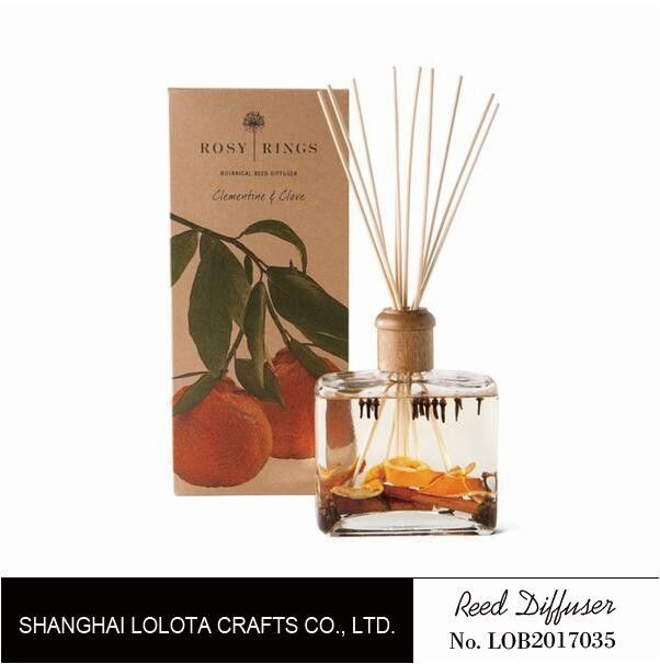 Wooden Top Lid Wooden Reed Diffuser Reed Diffuser With Dry Fruit And Flower And Folding Box supplier