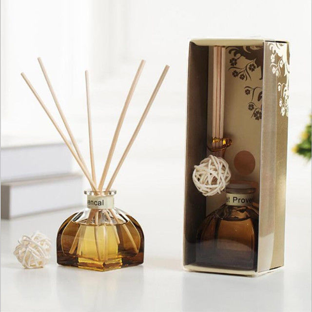 Decorative Home Reed Diffuser Natural Essential Oil Aroma Glass Bottle Reed Diffuser supplier