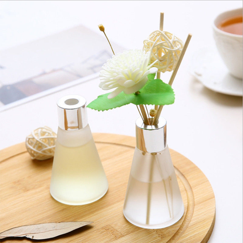 Customized Luxury Box Home Reed Diffuser Glass Bottle Dried Flower Design supplier